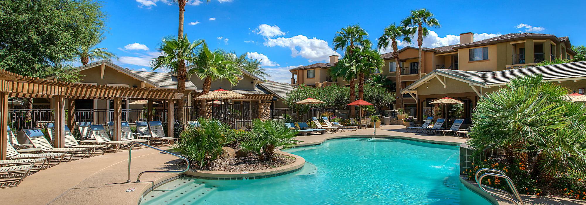 Gorgeous resort swimming pool to Azul at Spectrum in Gilbert, Arizona