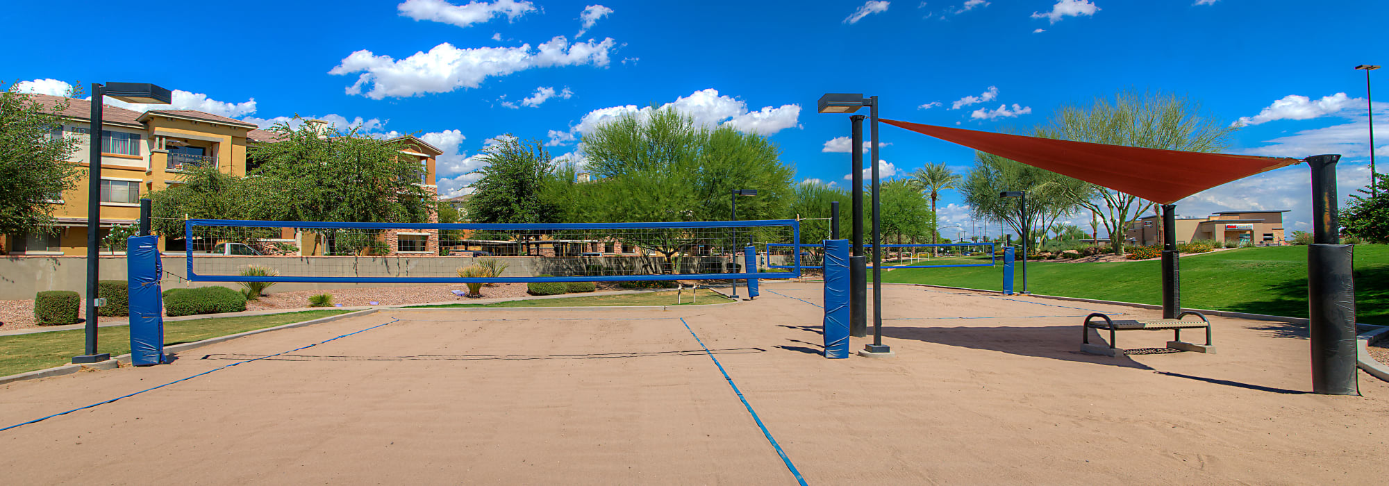 Volleyball court at Azul at Spectrum in Gilbert, Arizona