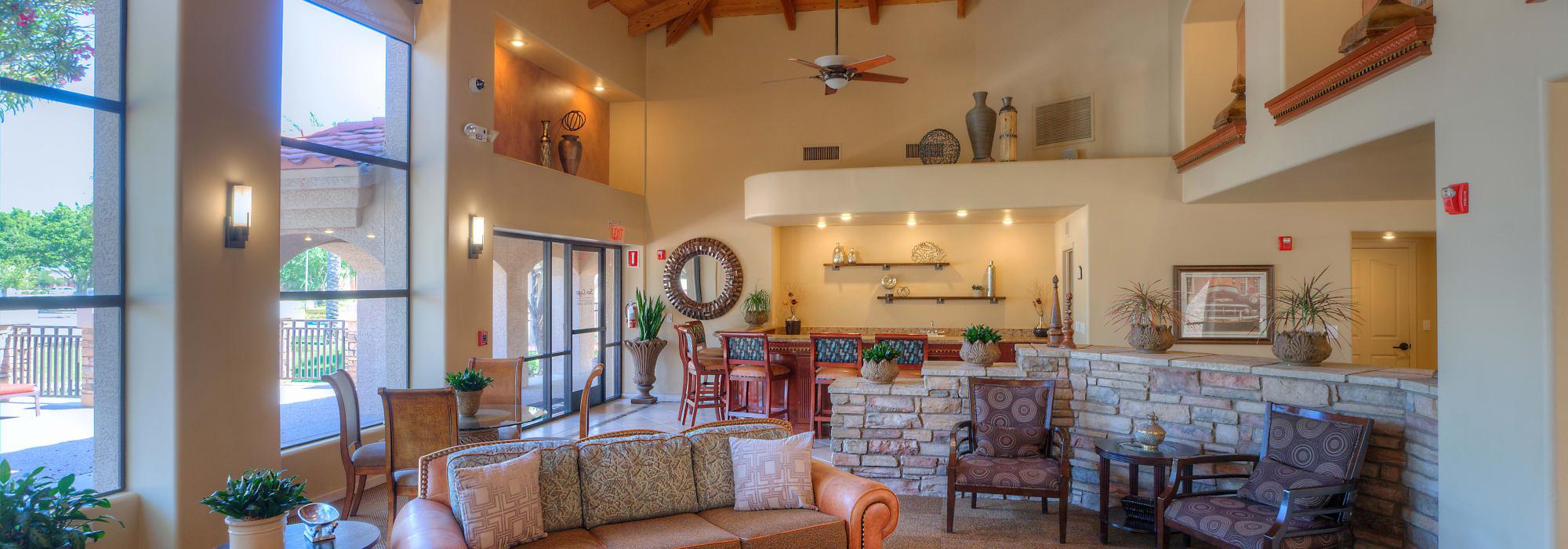 Large resident clubhouse at San Lagos in Glendale, Arizona