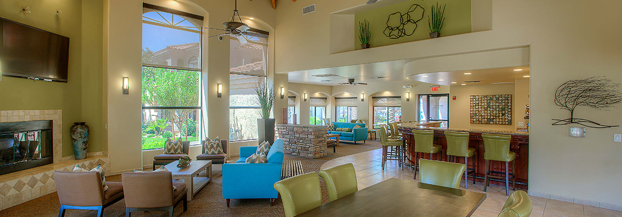 Luxurious resident clubhouse interior at San Pedregal in Phoenix, Arizona
