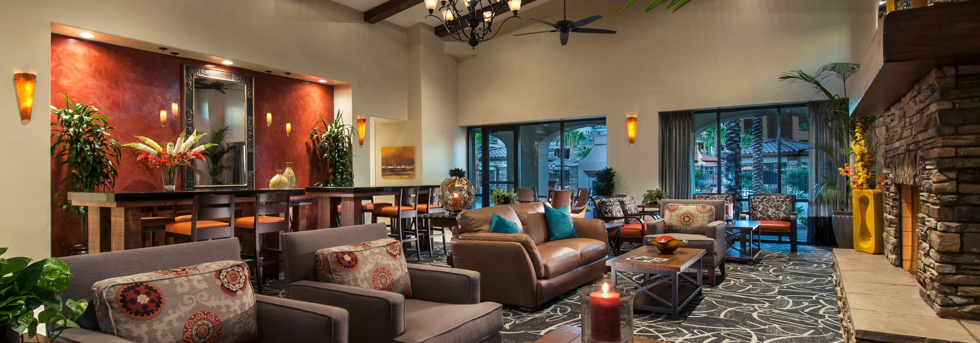 Large lounge at San Privada in Gilbert, Arizona