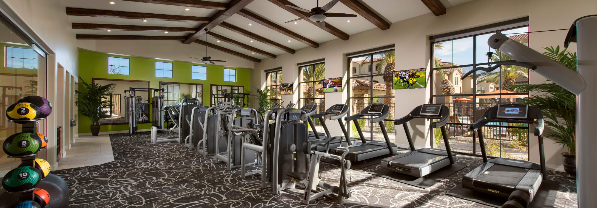Fitness center at San Valencia in Chandler, Arizona