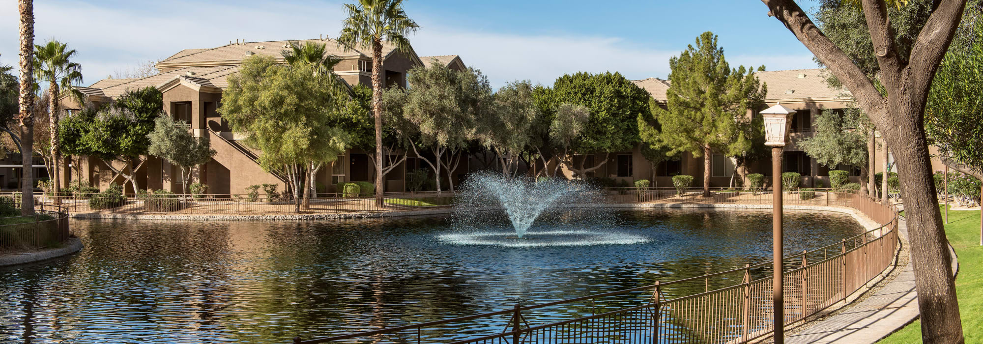 View of the pond at Laguna at Arrowhead Ranch in Glendale, Arizona