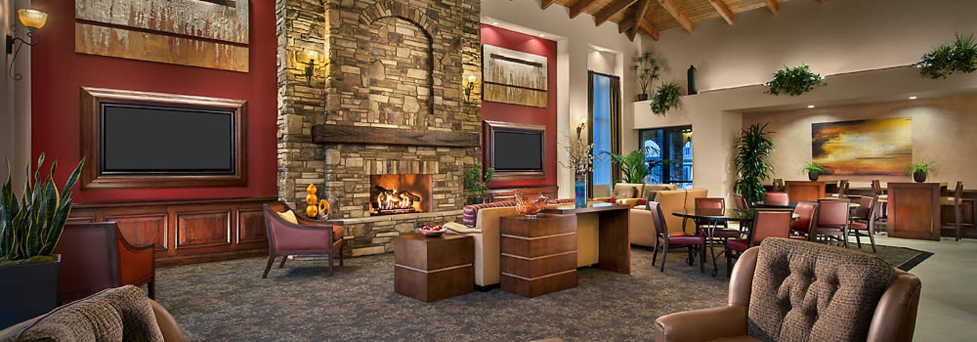 Spacious clubhouse to entertain friends and family at San Norterra in Phoenix, Arizona