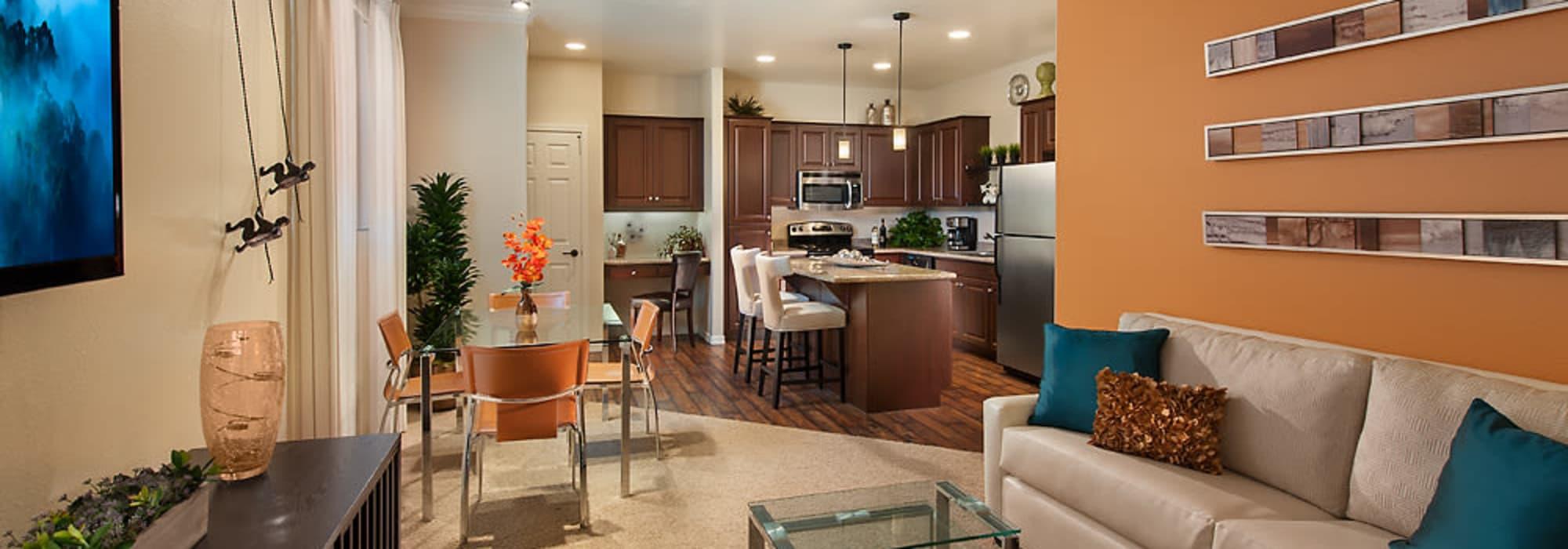 Luxury living room at San Norterra in Phoenix, Arizona