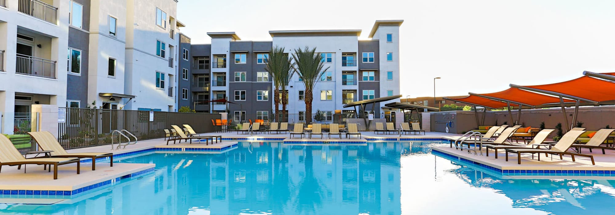 Gorgeous swimming pool area at The Hyve in Tempe, Arizona