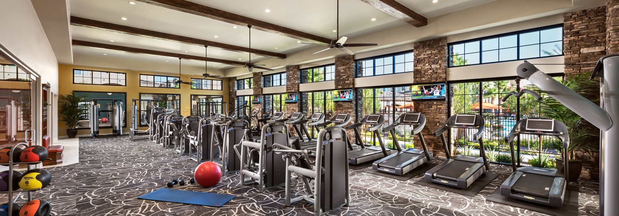 Fully equipped fitness center at San Privada in Gilbert, Arizona