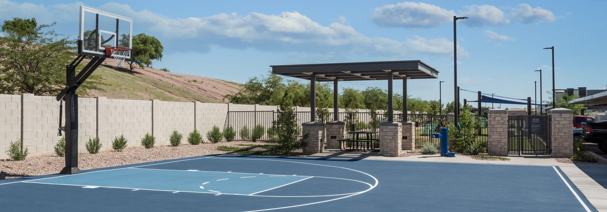 Basketball court at Aviva in Mesa, Arizona