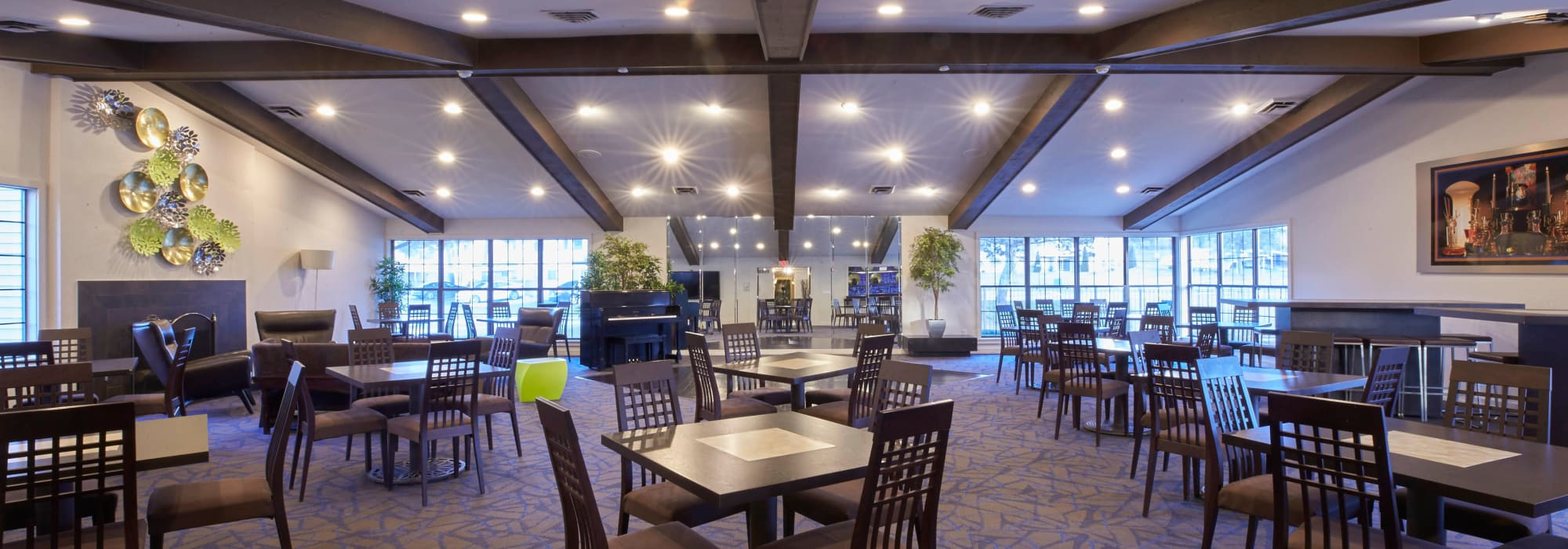 Interior of clubhouse at Muirwood in Farmington Hills, Michigan