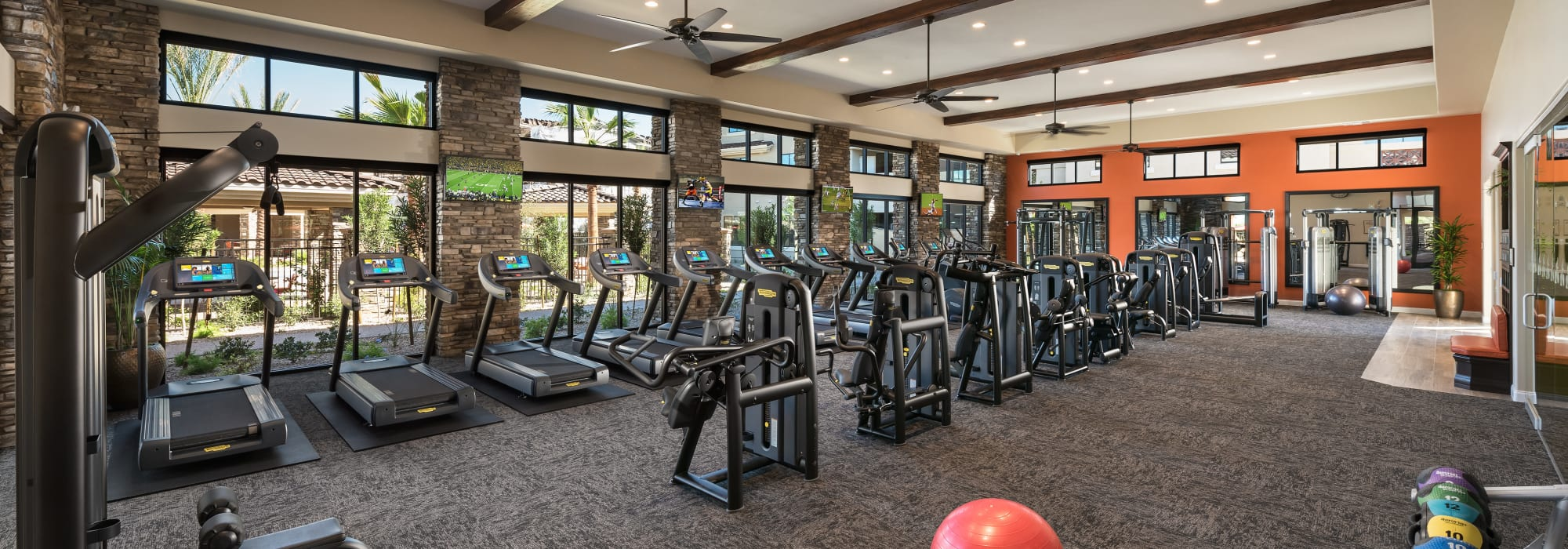 Very well-equipped fitness center at San Piedra in Mesa, Arizona