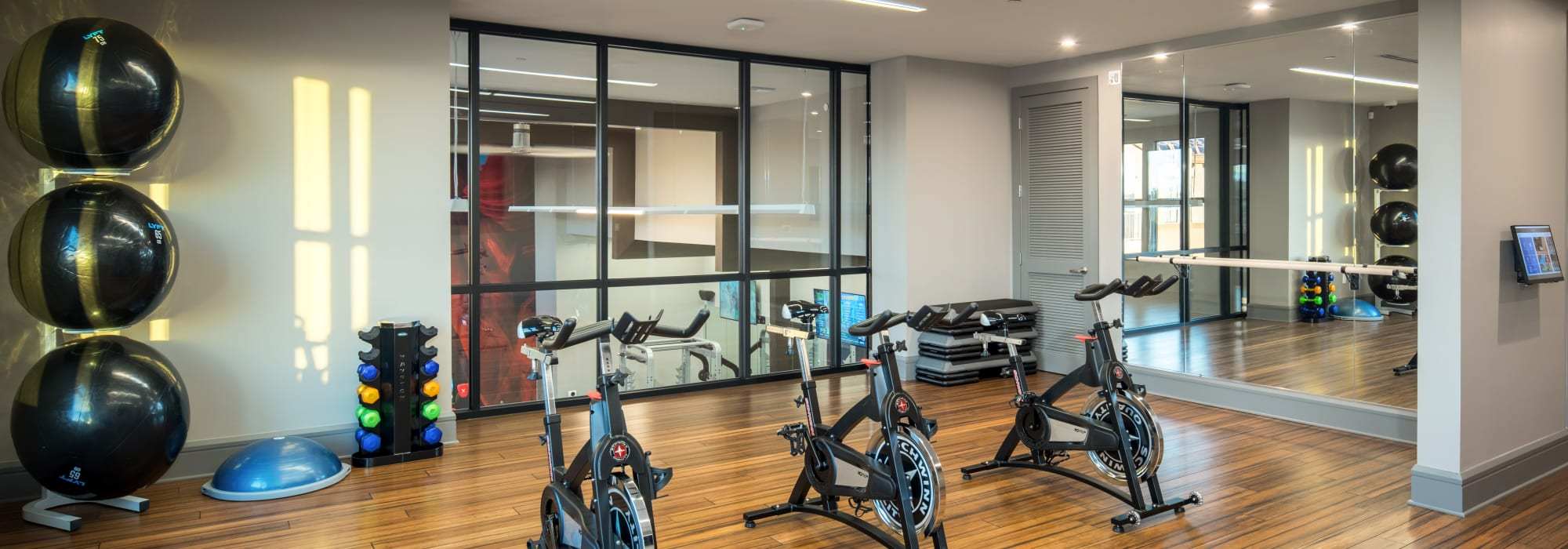 Spin class room at The Core Scottsdale in Scottsdale, Arizona