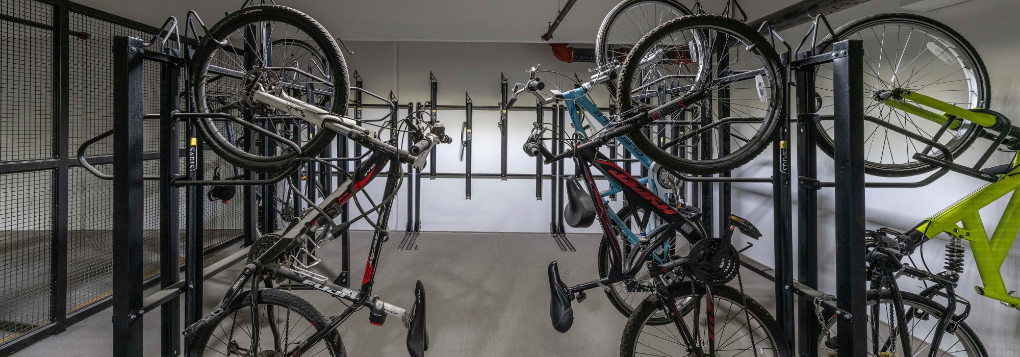 Secure bicycle storage at Carter in Scottsdale, Arizona