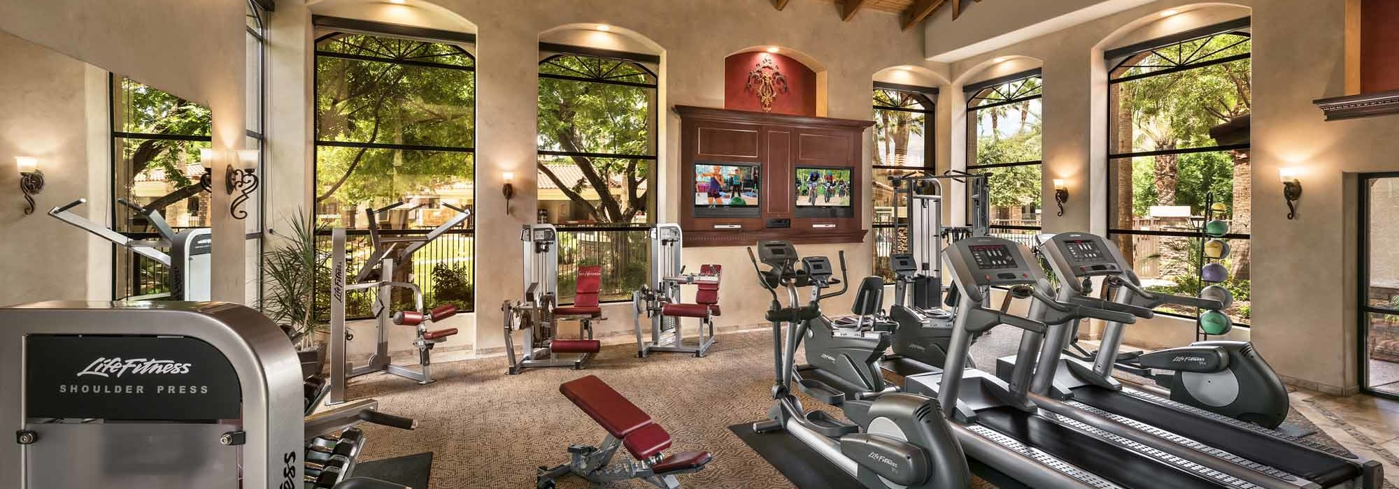 Fitness Center at San Hacienda in Chandler, Arizona