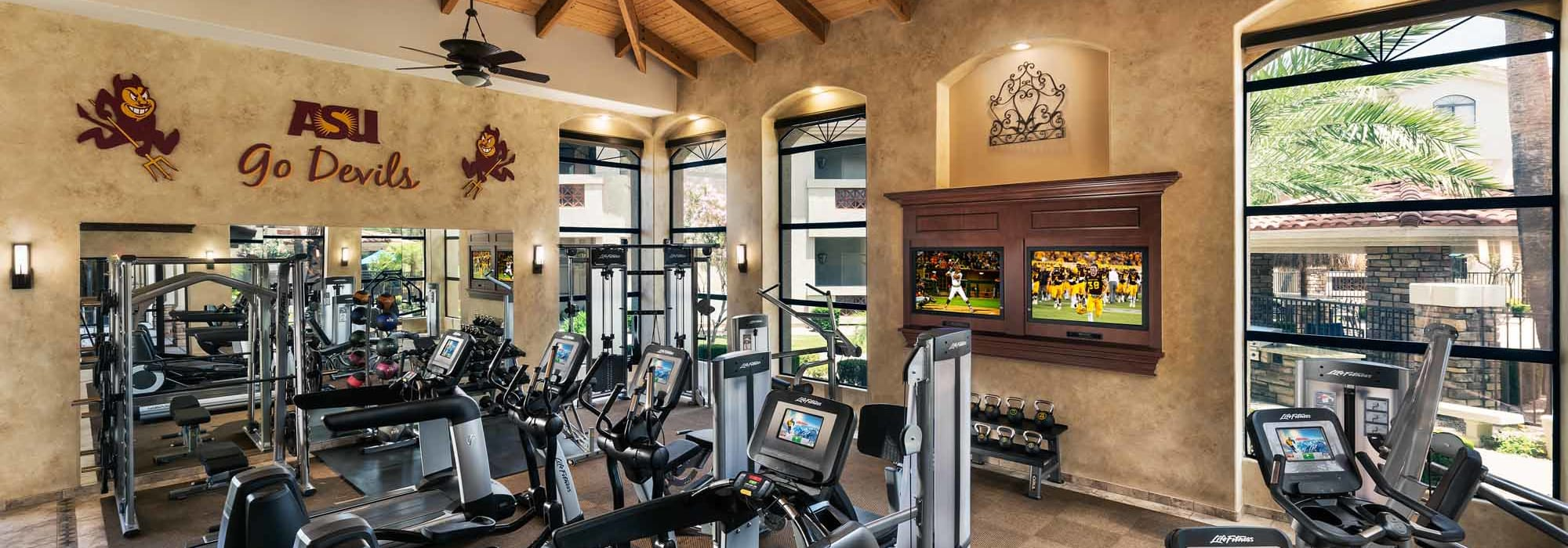 State of the art fitness center at San Marbeya in Tempe, Arizona
