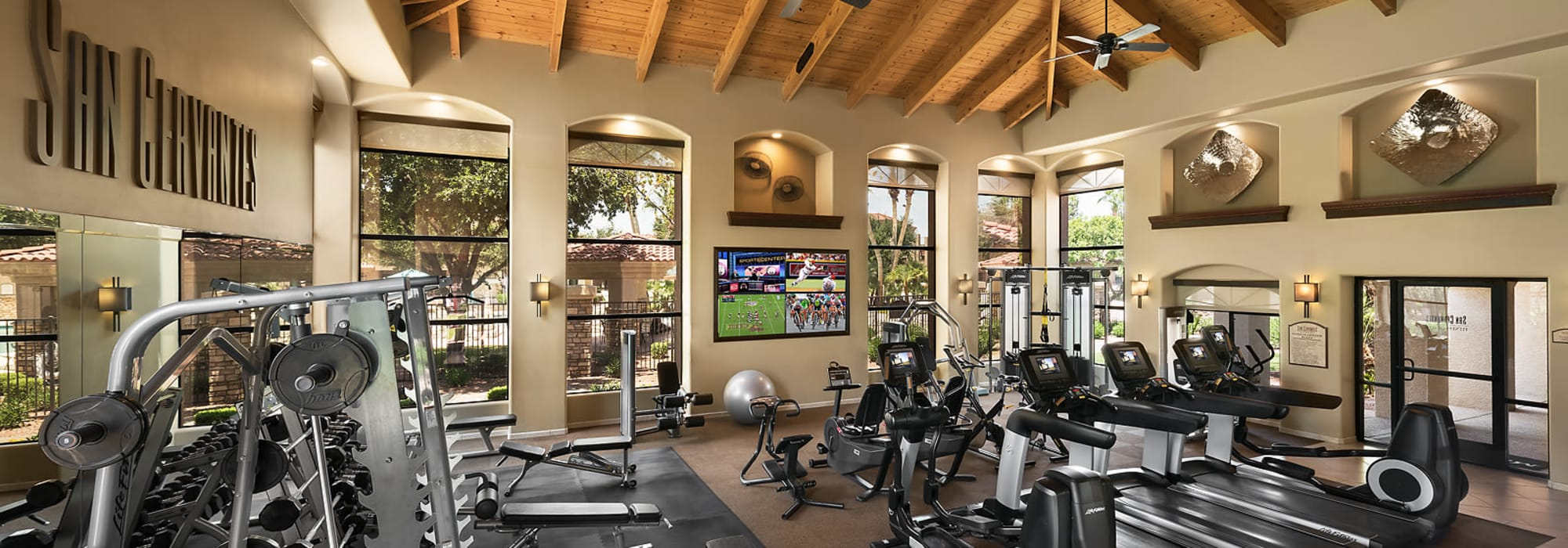 Fitness center at San Cervantes in Chandler, Arizona