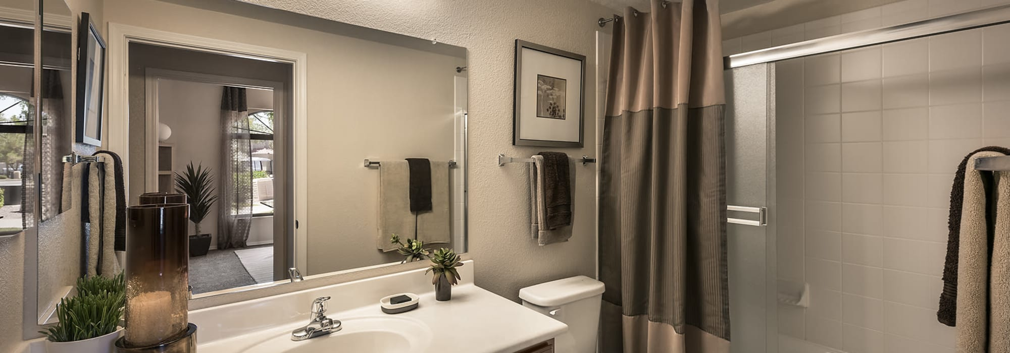 spacious bathroom at San Cervantes in Chandler, Arizona