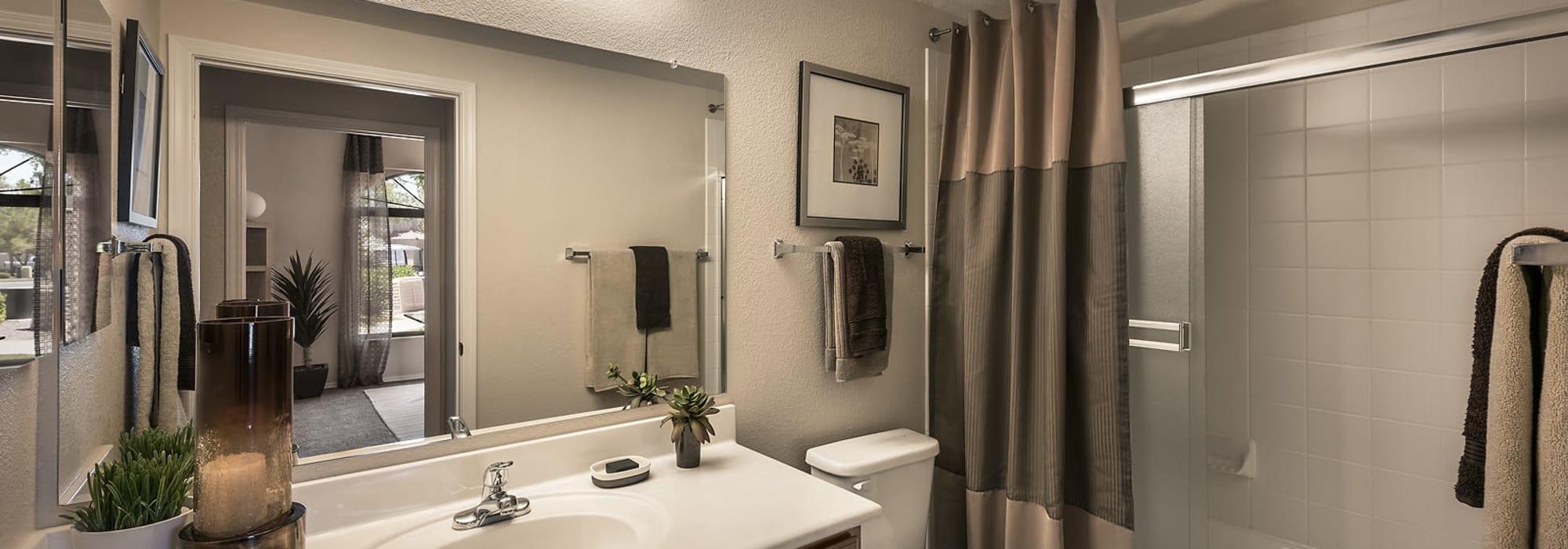 spacious bathroom at San Cervantes in Chandler, Arizona