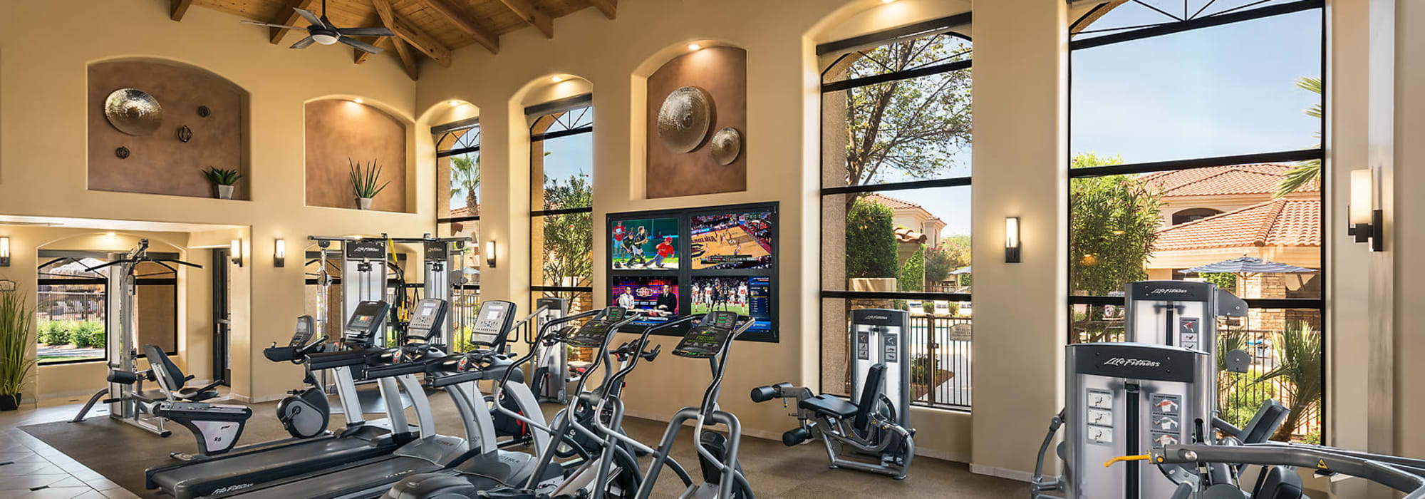 24 hour fitness center with equipment at San Lagos in Glendale, Arizona