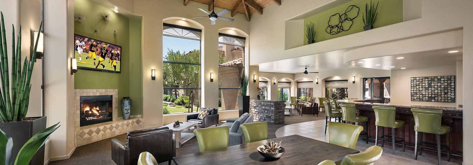 Luxurious resident clubhouse interior at San Pedregal in Phoenix, Arizona