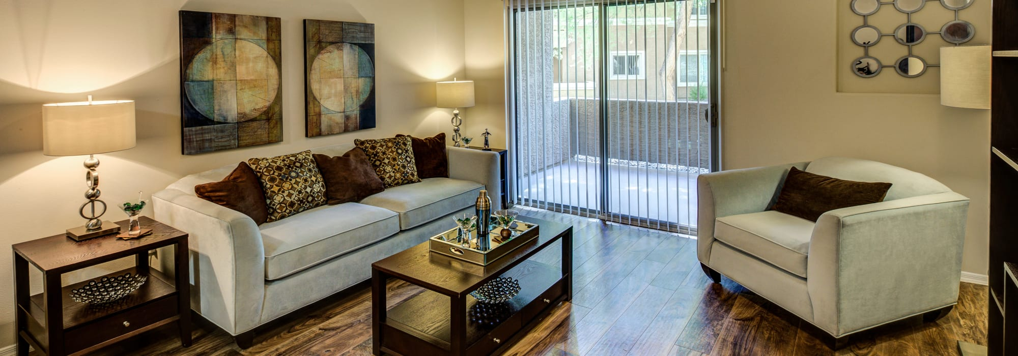 Spacious living room and dining room at The Regents at Scottsdale in Scottsdale, Arizona