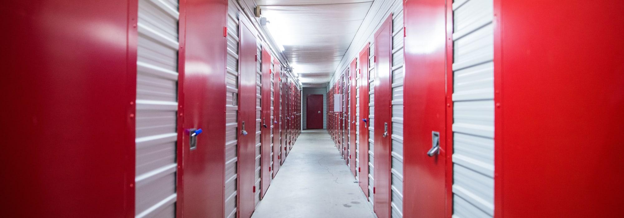 Interior units at Apple Self Storage - Toronto - Danforth in Toronto, Ontario