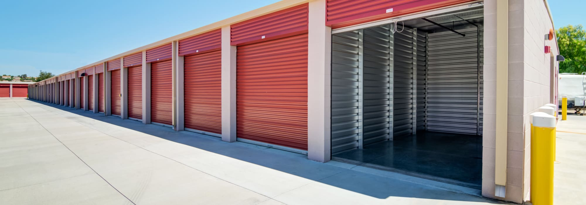 Outdoor units at Butterfield Ranch Self Storage in Temecula, California