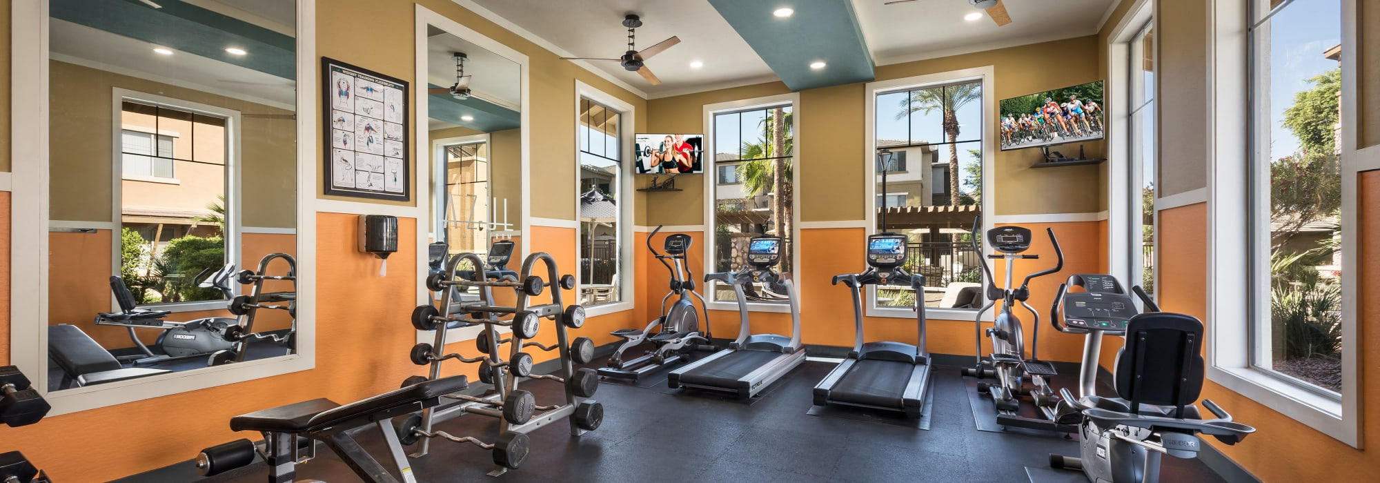 Apartments with a luxury fitness center at Azul at Spectrum in Gilbert, Arizona
