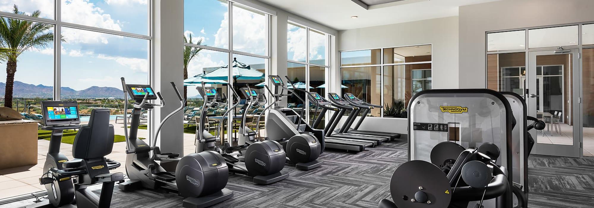Gym at The Halsten at Chauncey Lane in Scottsdale, Arizona