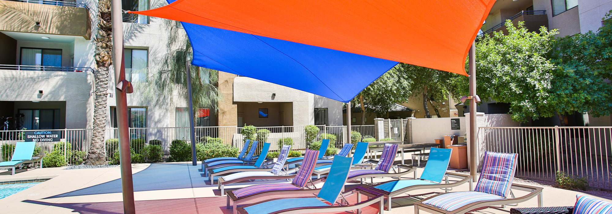 Spectra on 7th South poolside seating in Phoenix, Arizona