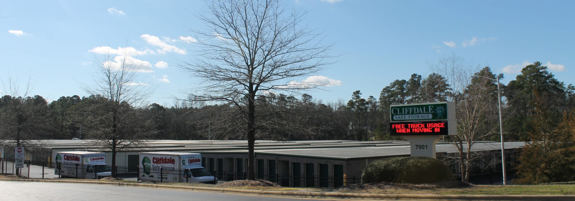 Exterior of Cliffdale Safe Storage in Fayetteville, North Carolina