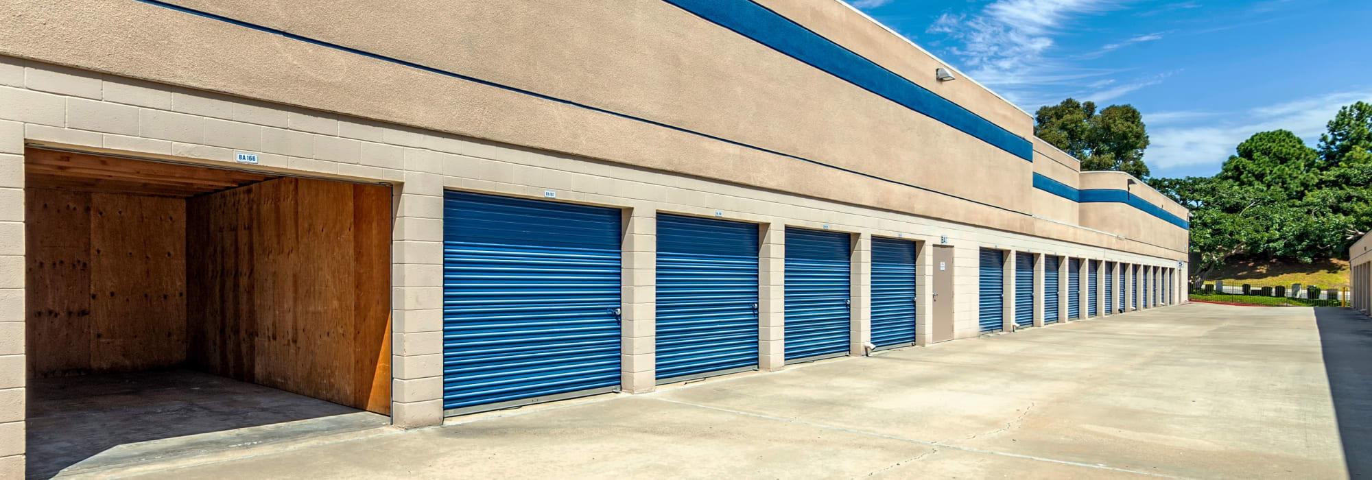 Outdoor units at Mira Mesa Self Storage in San Diego, California