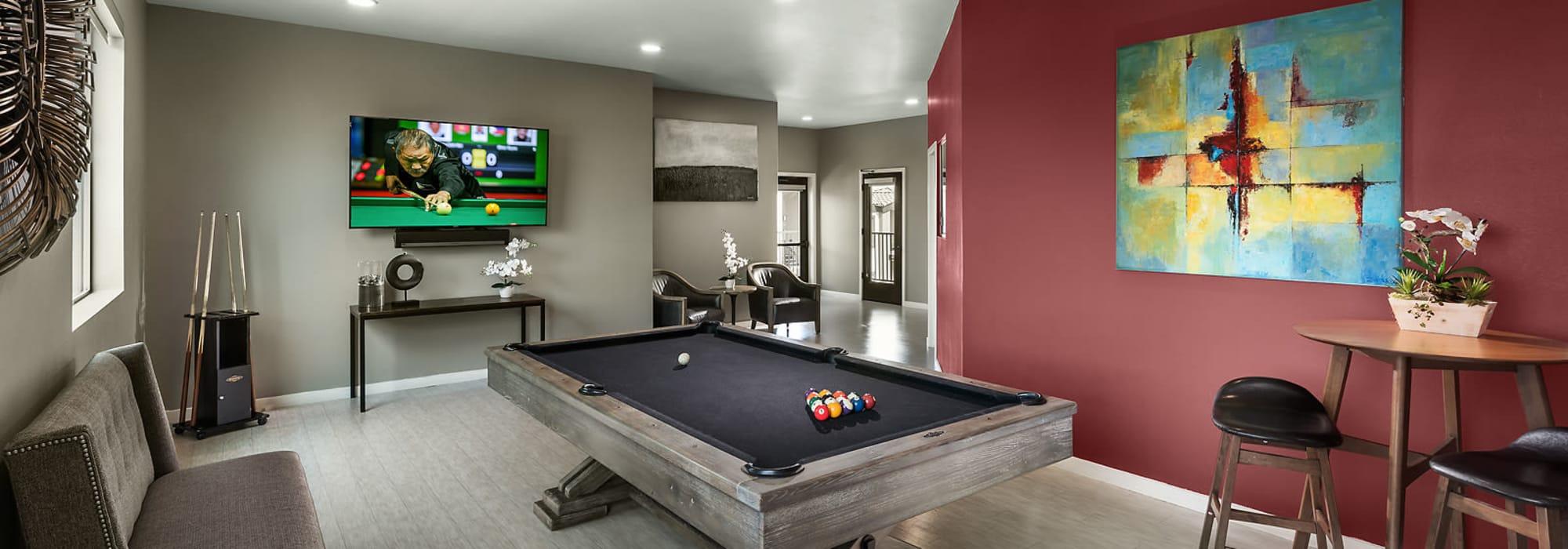 Billiards room at The Maxx 159 in Goodyear, Arizona