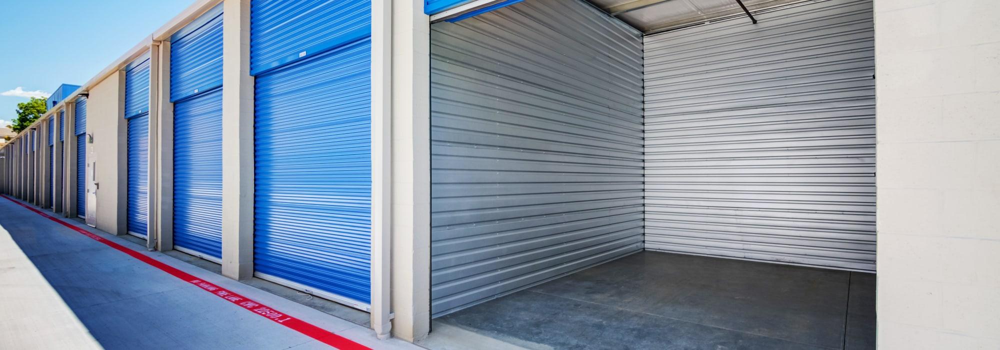 Outdoor units at Silverhawk Self Storage in Murrieta, California