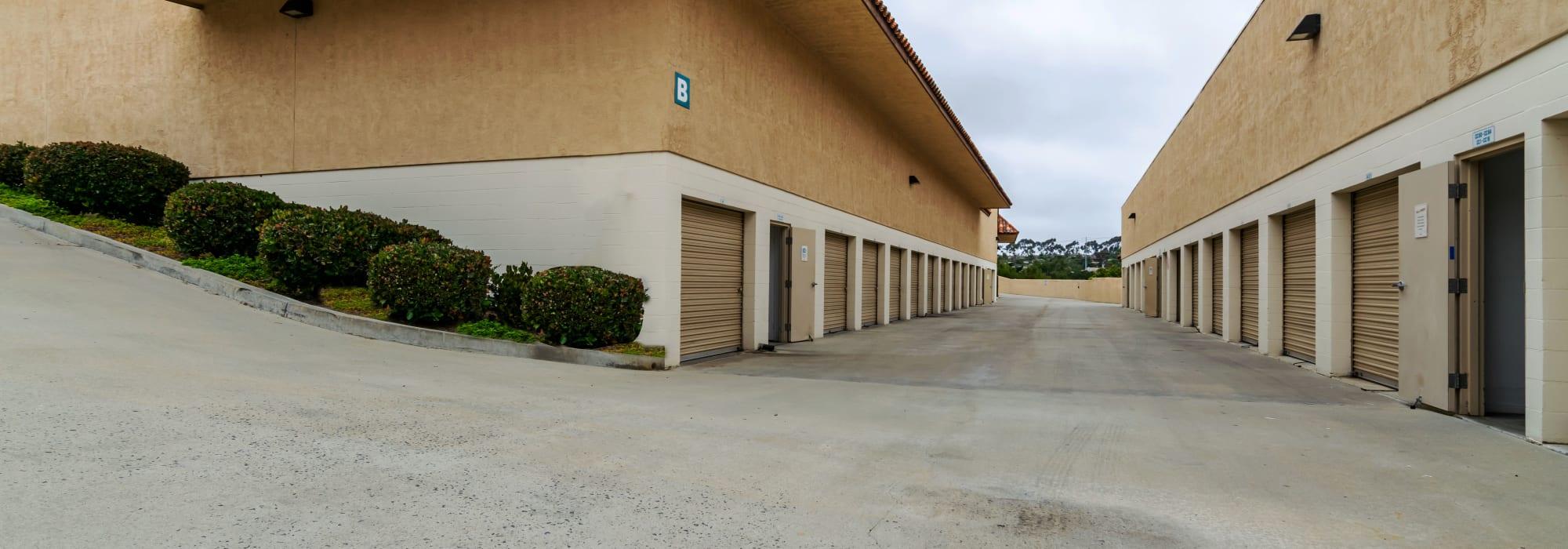 Outdoor units at Encinitas Self Storage in Encinitas, California