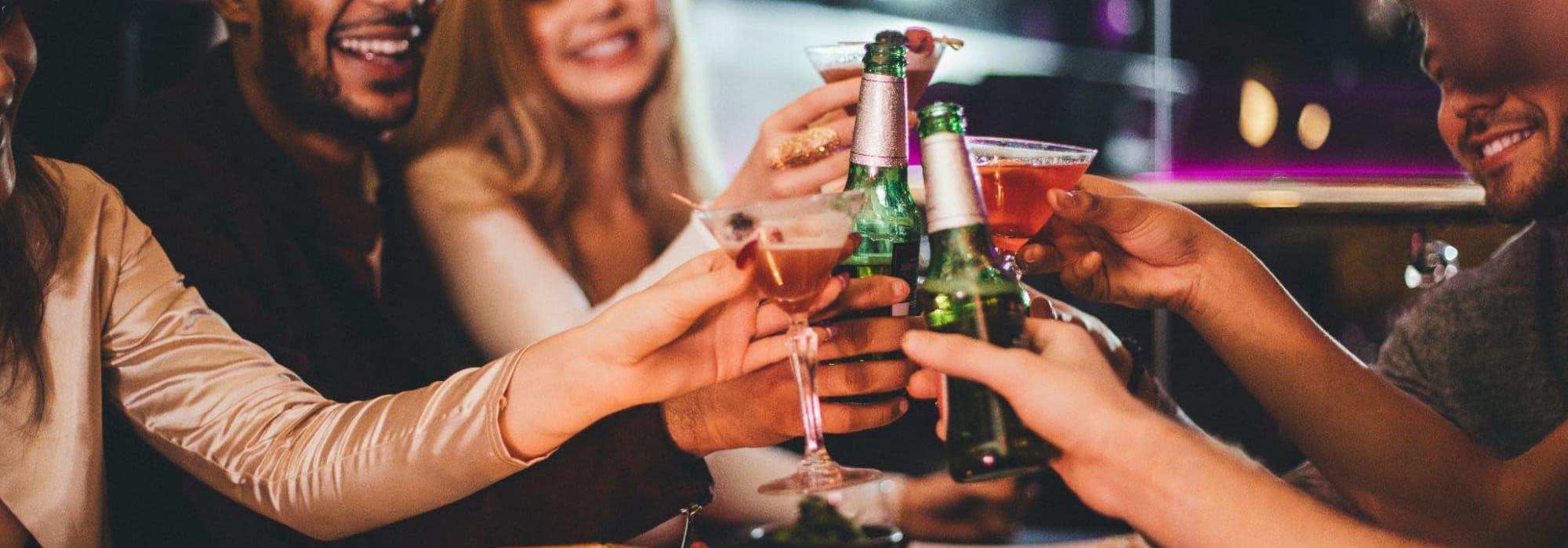 Friends enjoying drink at a local bar in Scottsdale, Arizona near San Artes
