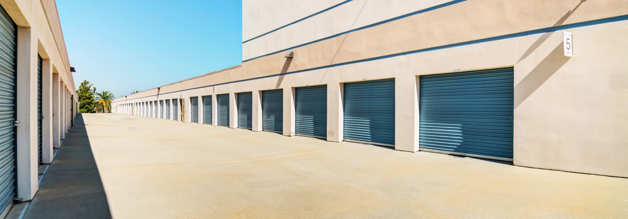 Outdoor units at Sorrento Mesa Self Storage in San Diego, California