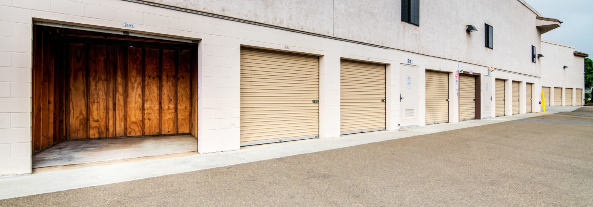 Outdoor units at Poway Road Mini Storage in Poway, California