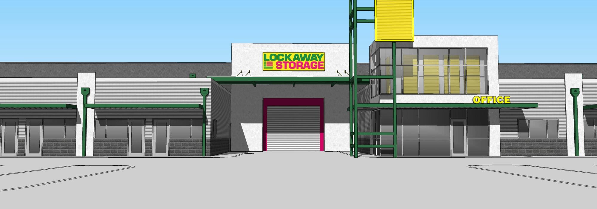Front entry into Lockaway Storage in San Antonio, Texas