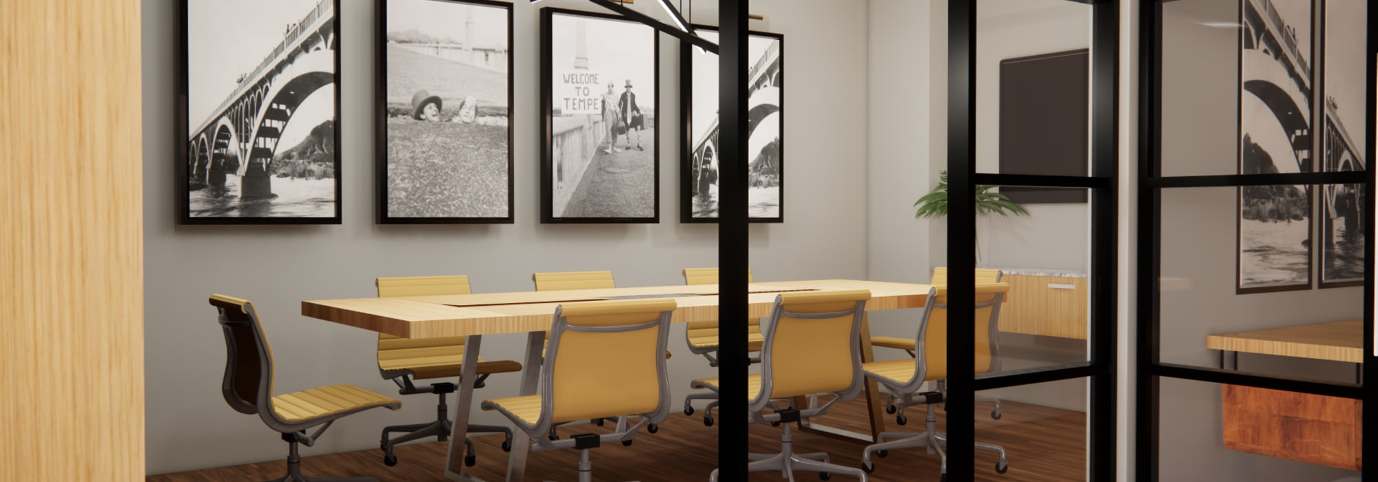 Rendering of conference room for residents to use at The Piedmont in Tempe, Arizona