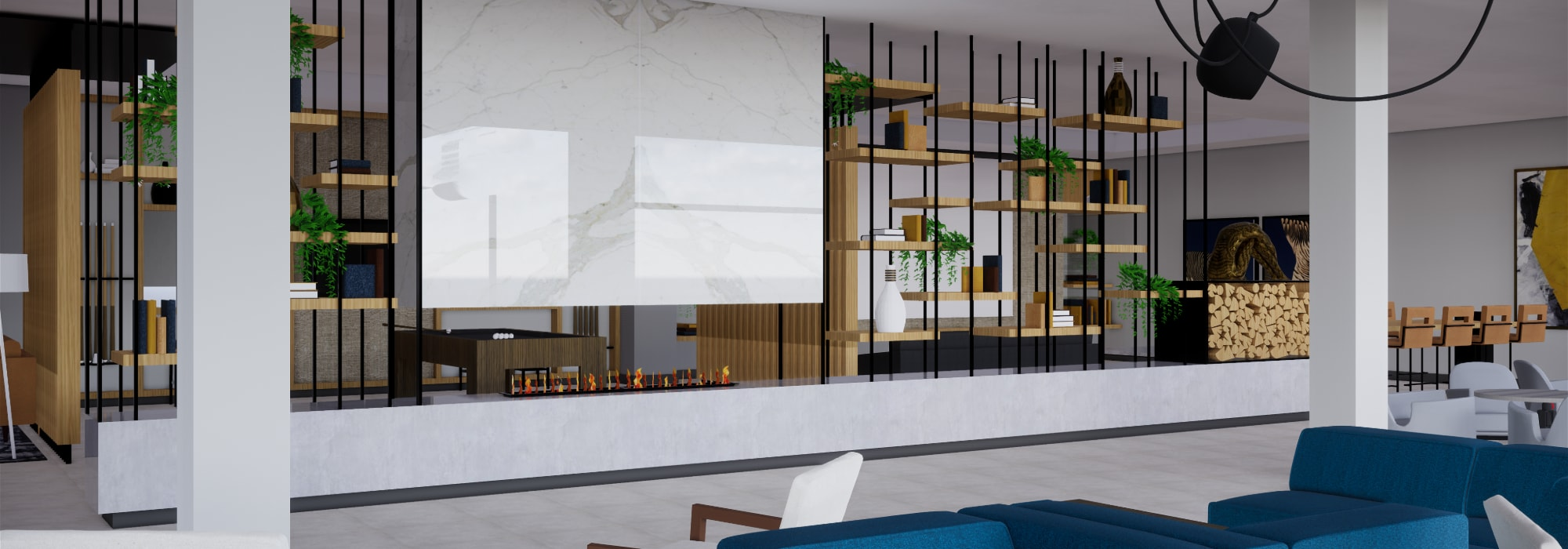 Rendering of movie theater area for residents at The Piedmont in Tempe, Arizona