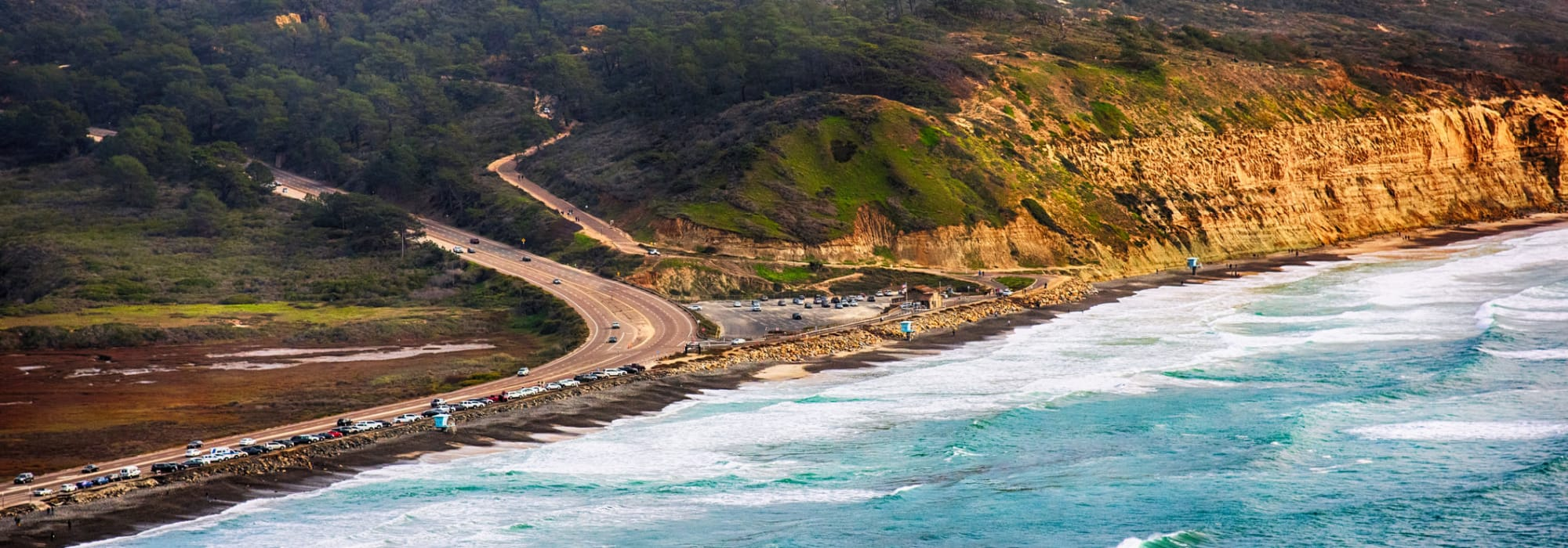 A beach near Sorrento Valley Self Storage in San Diego, California