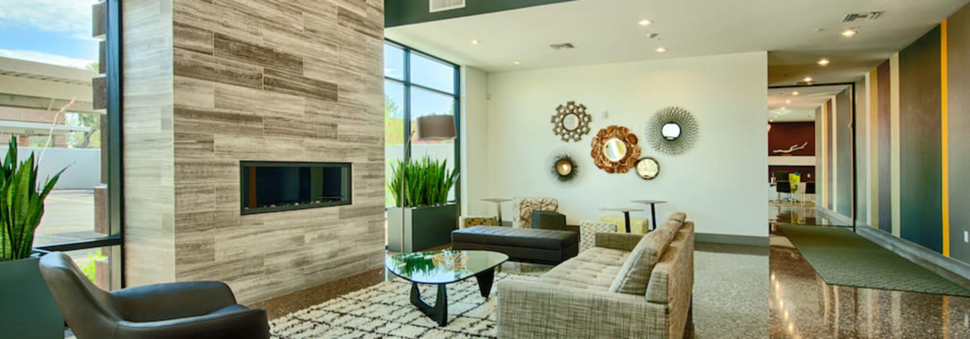 Luxury lunge room at Cactus Forty-2 in Phoenix, Arizona