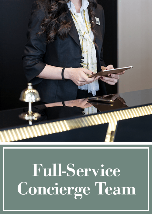 Full-service concierge team at Cantabria at Turtle Creek in Dallas, Texas
