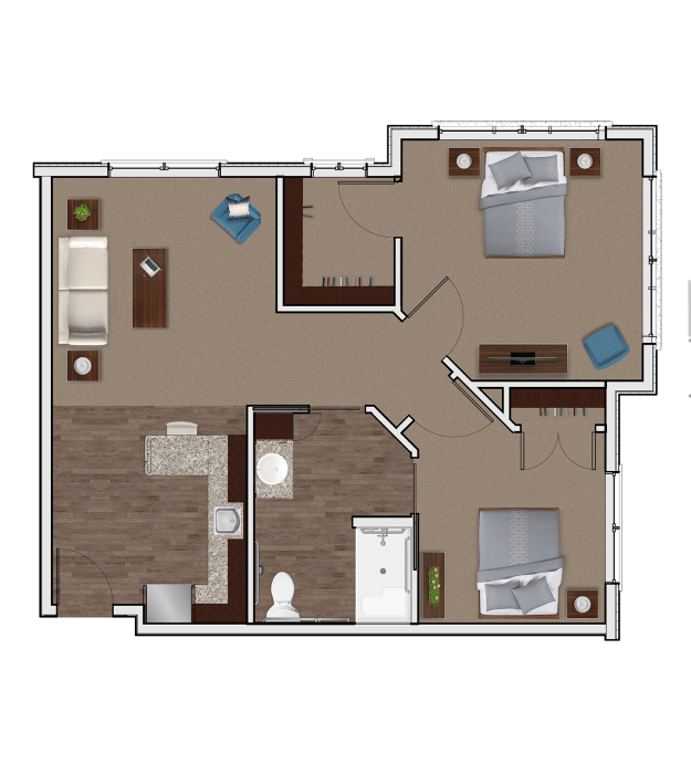 Assisted Living Two Bedroom at Stonecrest of Wildwood
