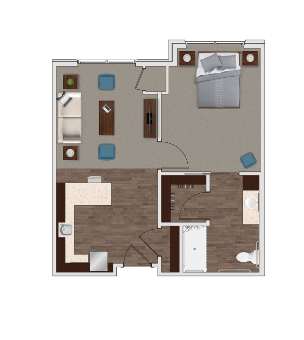 Assisted Living One Bedroom at Stonecrest of Rochester Hills