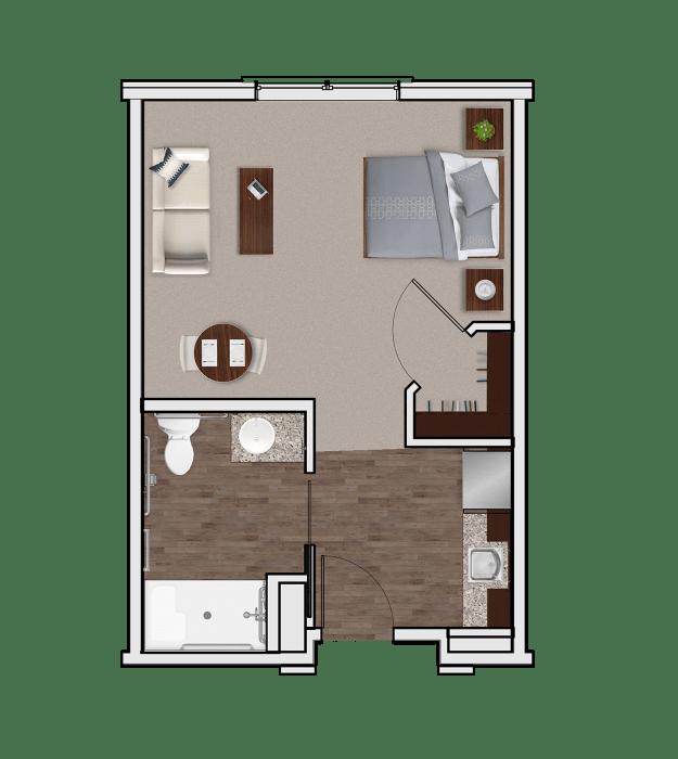 Assisted Living Designer Suite at Stonecrest of Meridian Hills