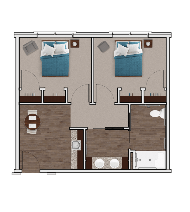 Memory Care Companion Suite at Stonecrest of Meridian Hills