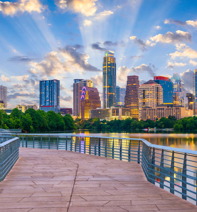View of the city near Marq Uptown in Austin, Texas