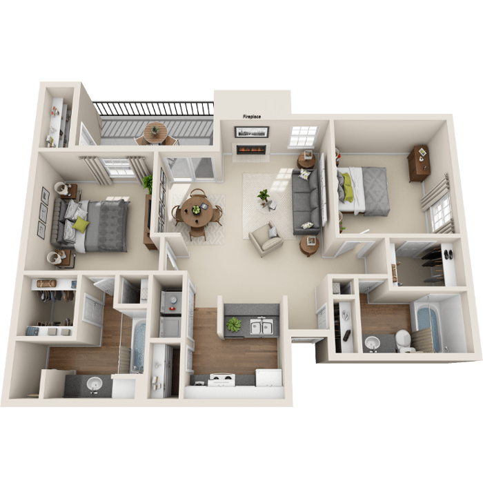 2 Bedroom Floor Plan - B2