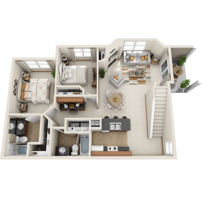 2 Bedroom Floor Plan - A